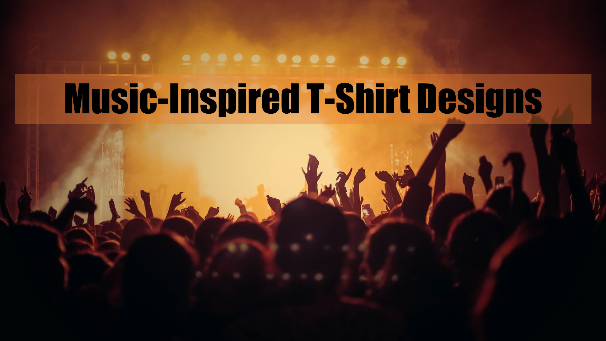 Music-Inspired T-Shirts Concert Image