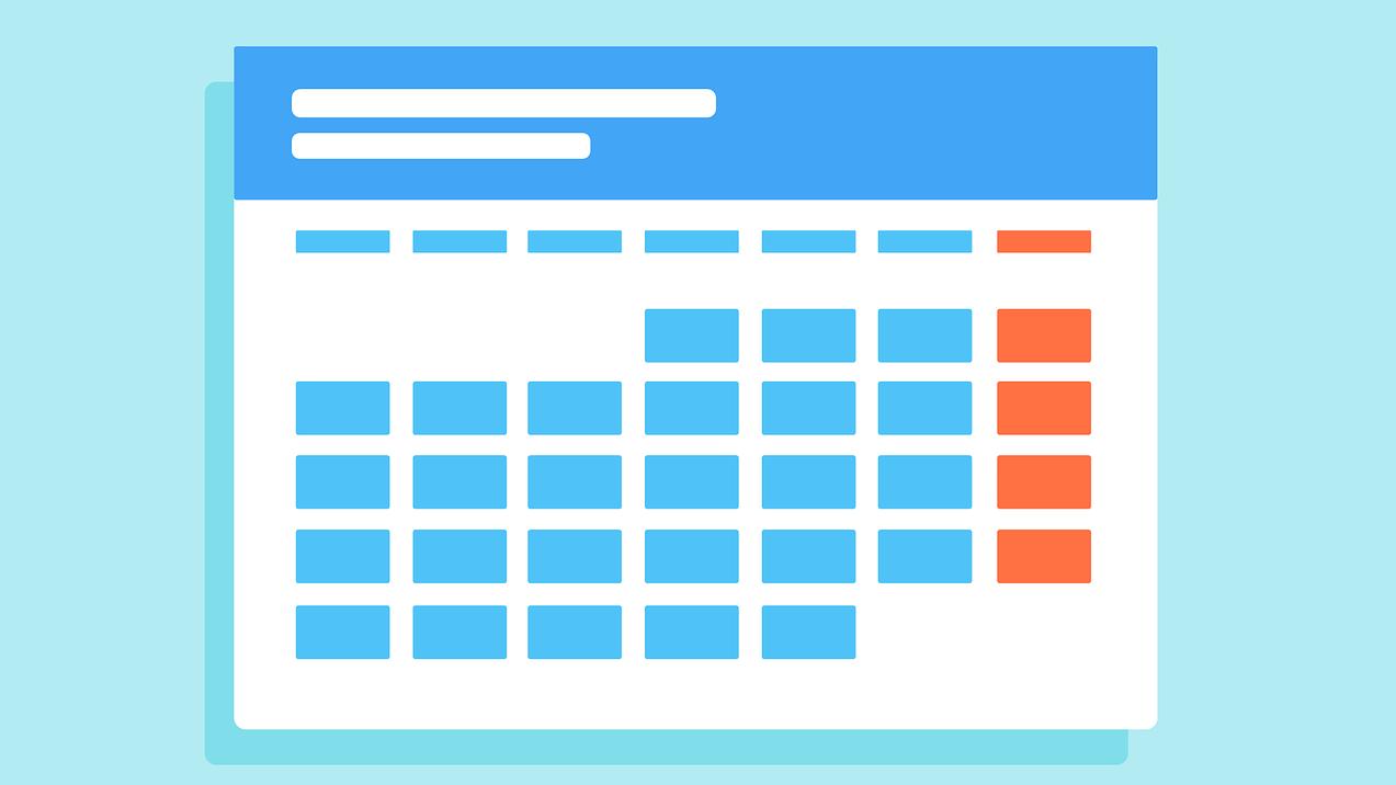 Calendar Flat Art