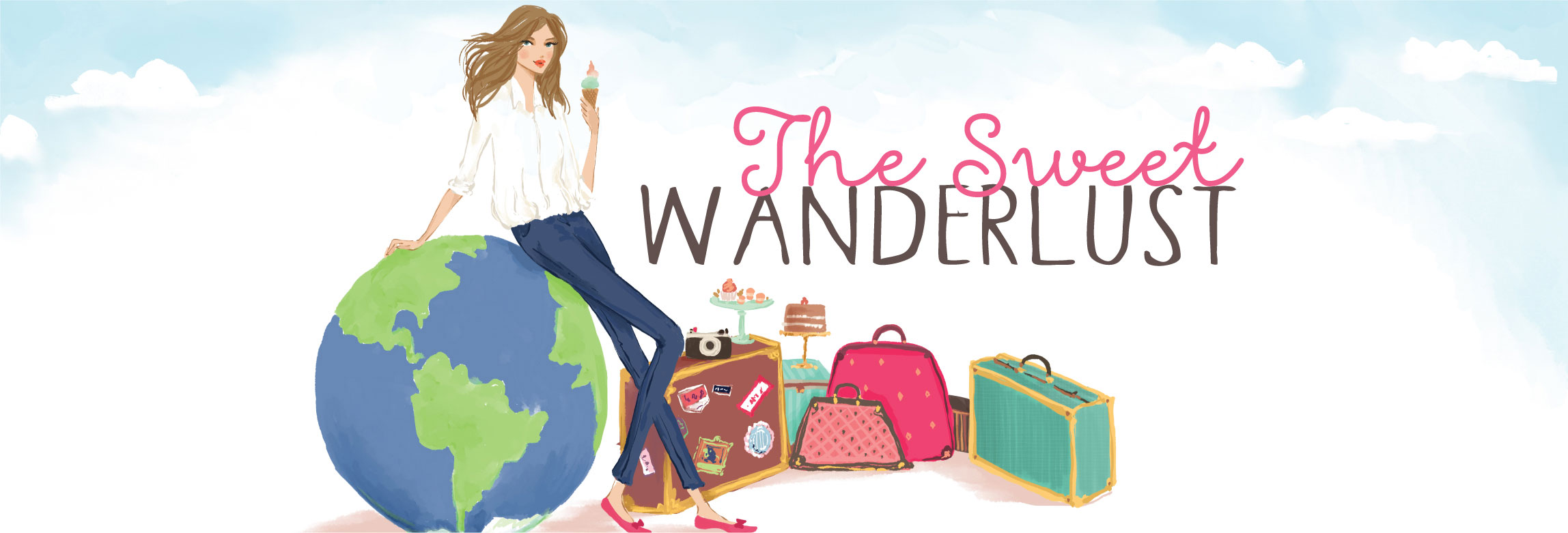 the sweet wanderlust influencer logo